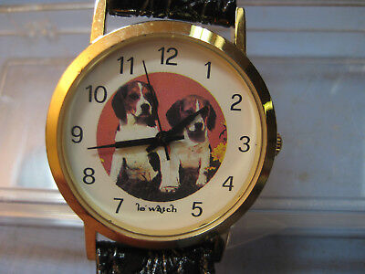 Le Watch, by Quintel, Features a Pair of Cute Beagle Puppies, Dog Lover's Watch!