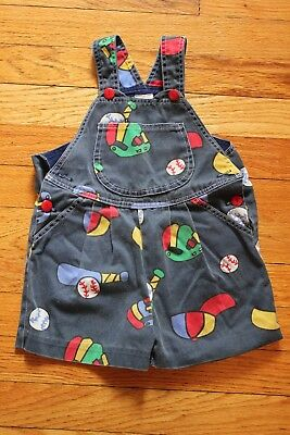 Vintage Primary Color 3T Baseball Overalls