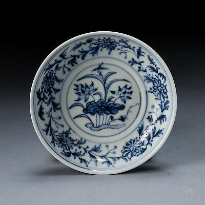 17-18th Chinese Antique Blue&White Dish B0426