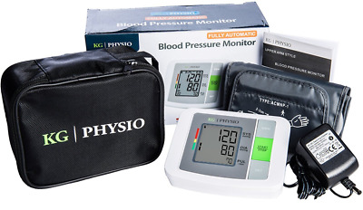 Blood Pressure Monitor by KG | PHYSIO Upper Arm BP Monitor Includes AC Adapter