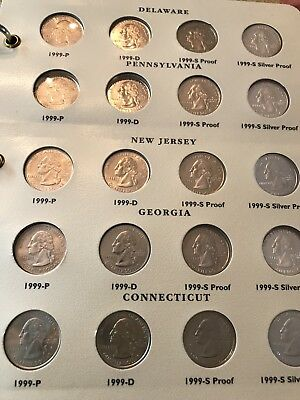 WASHINGTON STATEHOOD COLLECTION a Set of 100 1999-2003 W/Silver Proofs