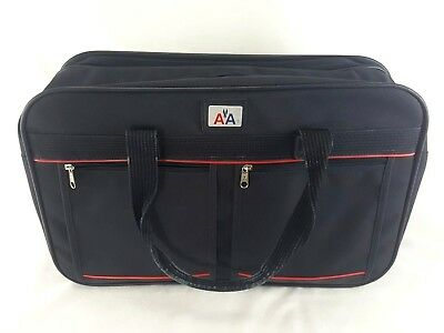 Vintage 1970's AMERICAN AIRLINES Canvas Red White Blue Carry-On TOTE BAG
