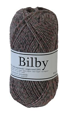 Sockenwolle BILBY Countrystyle 50 g, #5599B dunkelgrau - rot (5,58€/100g)