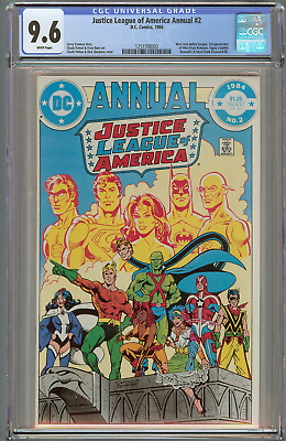 Justice League of America Annual #2  (CGC 9.6 White) DC 1984, 1st Vibe
