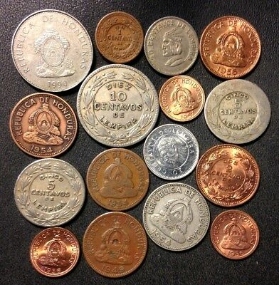 Old Honduras Coin Lot - 1932-Present - 16 Great Coins - Lot #A13