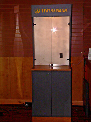 Leatherman Tools LED Lighted Display Cabinet with Storage - EUC