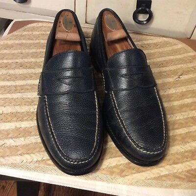 35f7ceb57bc Peter Millar Black Pebbled Leather Penny Loafers Men s Size 8.5 M