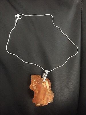 natural amber stone necklace
