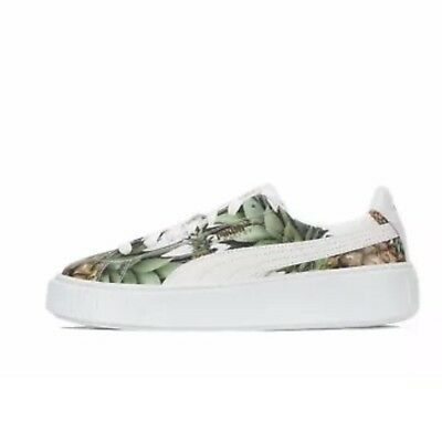 newest 370b4 4ead9 New Puma Basket Platform Creeper Pineapple Gold Shoes Sneakers Women 7 C  Wide