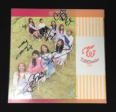 "TWICE autographed ""TWICEcoster LANE 1"" Album signed PROMO CD"