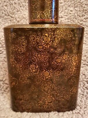 Vintage Chinese Lacquered Bottle With Lid