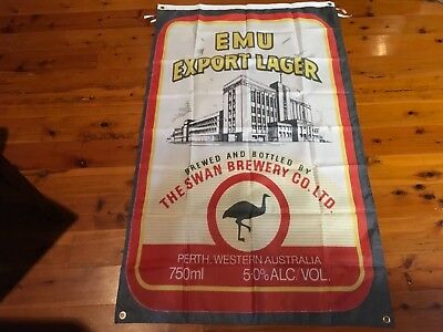 CollectAble  emu export bitter beer label Man cave flag bar advertising poster