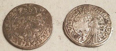 2 EARLY Poland COINS 1667 & 1546  L186