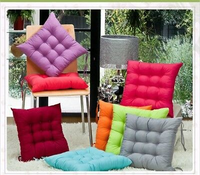 Indoor Outdoor Dining Garden Soft Chair Seat Pads Cushions Backrest Home Decor