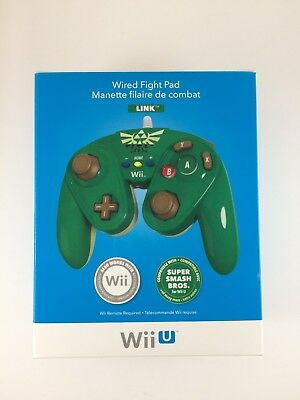 Brand New PDP Nintendo Wii U Link Wired Fight Pad for Super Smash Bros.