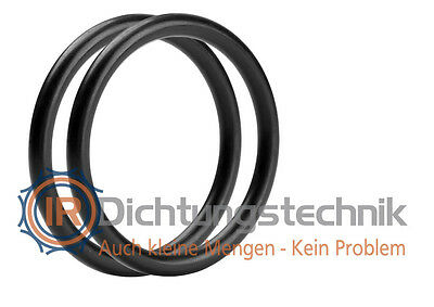 O-Ring Nullring Rundring 80,0 x 6,0 mm NBR 70 Shore A schwarz (2 St.)