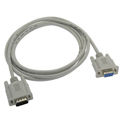 m Cables To Go 09453 Serial Rs-232 Cable - 50 Ft White - Db-9 Db-9 f