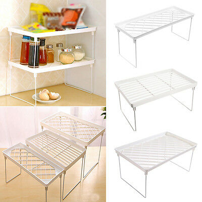Foldable Storage Shelf Rack Kitchen Bathroom Holder Organizer Desk Bookshelf-w
