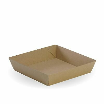 1 x PAPER FOOD TRAY - MEDIUM SQUARE Recycled Paper Chip Chick Pizza Bowl Plate