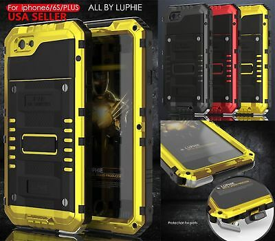 Luphie Shockproof Aluminum Heavy Duty Durable Case Cover For iPhone X 6S 7 Plus