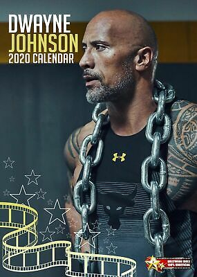 2019 Dwayne Johnson A3 Calendar Wall Calender The Rock By 365