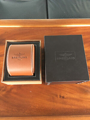 Breitling Leather Presentation Box and Case - Excellent Condition