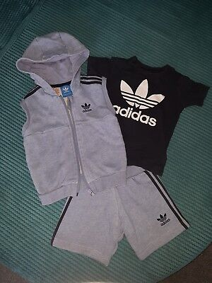Boys 18-24 months. Adidas outfit, light/navy blue. Used but good condition.