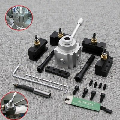 Mini Quick Change Tool Post Blade Holder Kit Set for 7 x10, 12, 14 Table Lathes