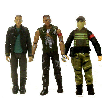 3pcs Terminator Salvation  Battle Damage JOHN CONNOR  Marcus Action Figure 2009