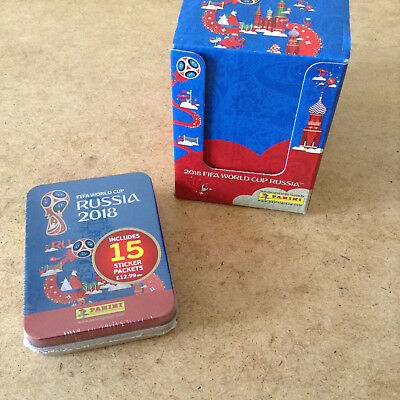 Panini Fifa World Cup Russia 2018 Sticker Tin Contains 15 Sticker Packets New