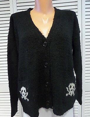 NWOT Urban Day Skull Cardigan Black White Style UBL413 Small Medium Large Read
