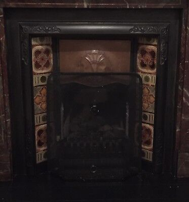 Victorian Cast Iron Fireplace With Tile Insert Panels