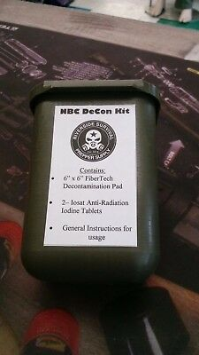 Decontamination Kit for Nuclear, Biological for First Responders and B.O.B.