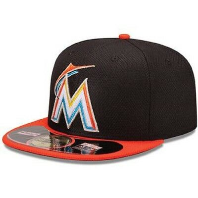 size 40 0d137 2c568 Authentic On Field Fitted New Era 59fifty Miami Marlins Hat 7