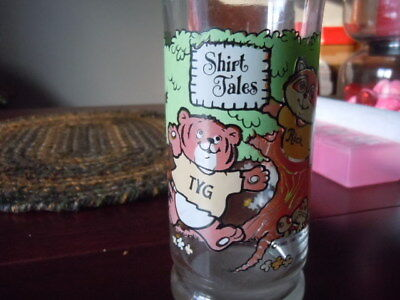 "Vintage ""Shirt Tails"" cartoon chracter drinking glass"
