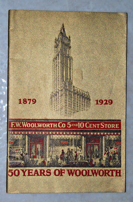 1929 BOOKLET 50 YEARS OF F.W. WOOLWORTH DEPARTMENT STORES 48 PG 50th ANNIV. BOOK