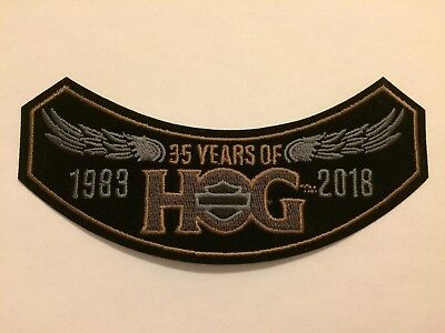 NEW 2018 HOG Harley Davidson Owners Group Patch Badge 35 Years Jacket 1983 Wings