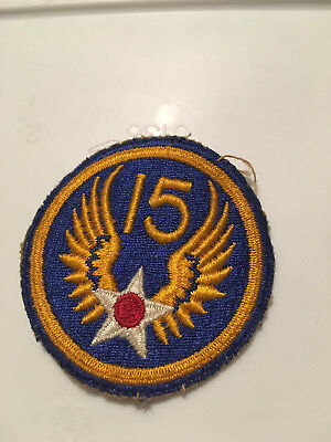 Vintage Original WWII US Army 15th Air Force AAF Military Shoulder Patch