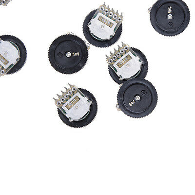20pcs B103 16x2mm 10K Ohm Double Dial Taper Volume Wheel Duplex Potentiometer RA