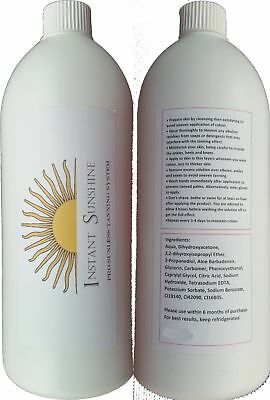 500ml Instant Sunshine 12% DHA Golden Skin Tones Spray Tan Tanning Solution H...