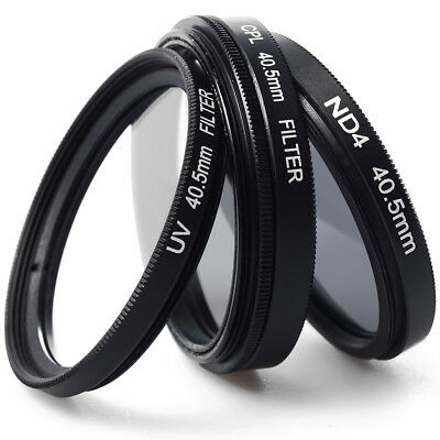 3pcs UV CPL ND4 Lens Filter 40.5mm + Case For Sony NEX-5T A6000 A5000 LF280