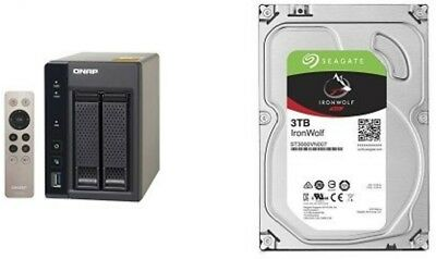 QNAP 6TB TS-253A-8G with 2 x Seagate ST3000VN007 Ironwolf HDD Bundle