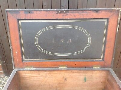 Ships Carpenters chest, antique Restoration Viewing Welcome