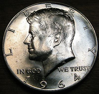 1964 D Kennedy Half Dollar 1-D Brilliant Uncirculated Coin From Roll