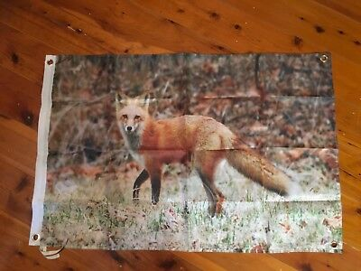 nature conservation wwf man cave  poster flag biker bar wall hanging red fox