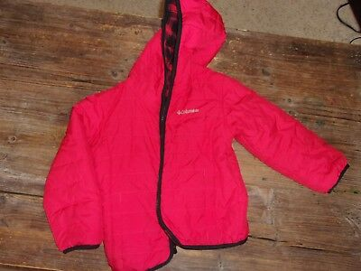 Boy's lightweight jacket.Columbia.Size 3T. Red. Reverisble. Polyester