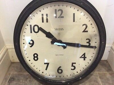Vintage Factory Very large Smiths Sectric Clock in working order