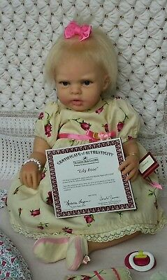 Ashton Drake Lily Rose SILICONE Baby Doll - Great Condition! PRICE REDUCED! bb384447f