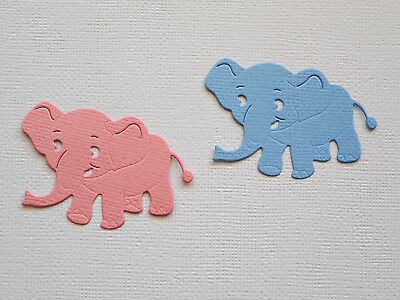 Baby Elephant Paper Die Cuts x 8 Sets Scrapbooking Embellishment - Not a Die