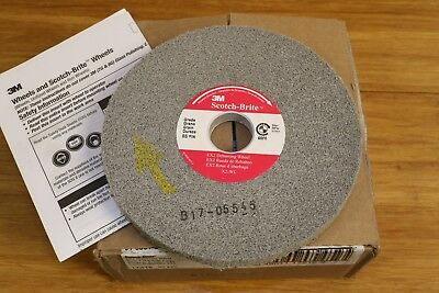 "3M Scotch-Brite 6"" x 1/2"" x 1"" EX2 Deburring Wheel 8S Hard Fine Silicon Carbide"